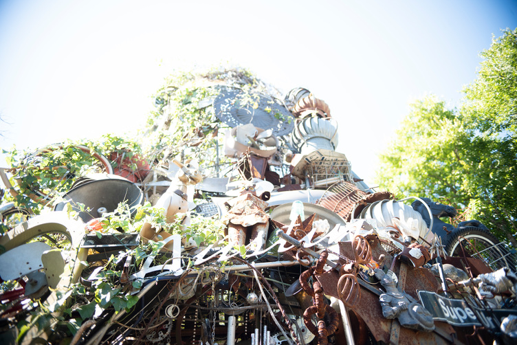 'The Cathedral of Junk,' a backyard art piece at Austin artist Vince Hannemann's home