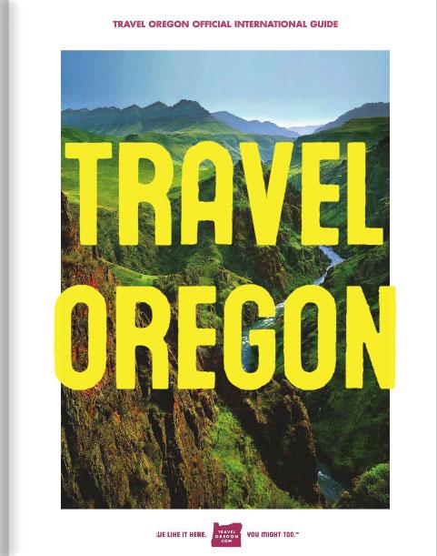 Titelseite des offiziellen internationalen Reiseführers von Travel Oregon