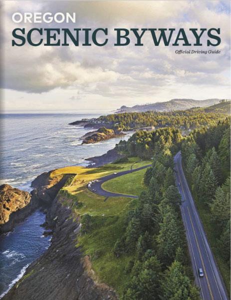 Imagen de la portada de la guía de carreteras panorámicas de Oregón