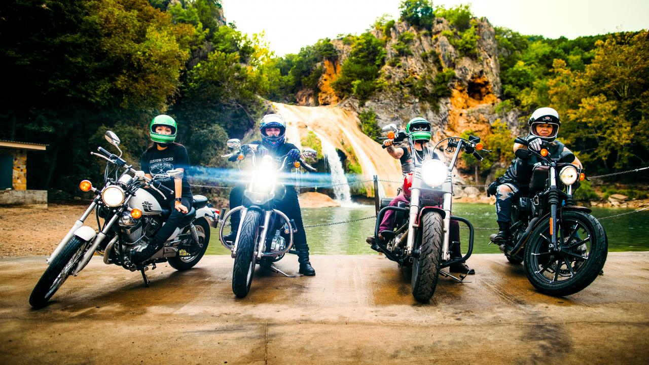 Members of The Litas at Turner Falls Park in Oklahoma