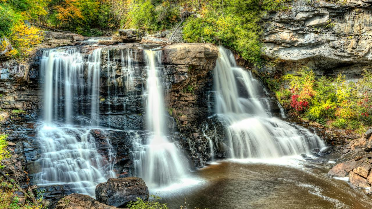 Blackwater Falls State Park in Davis, West Virginia