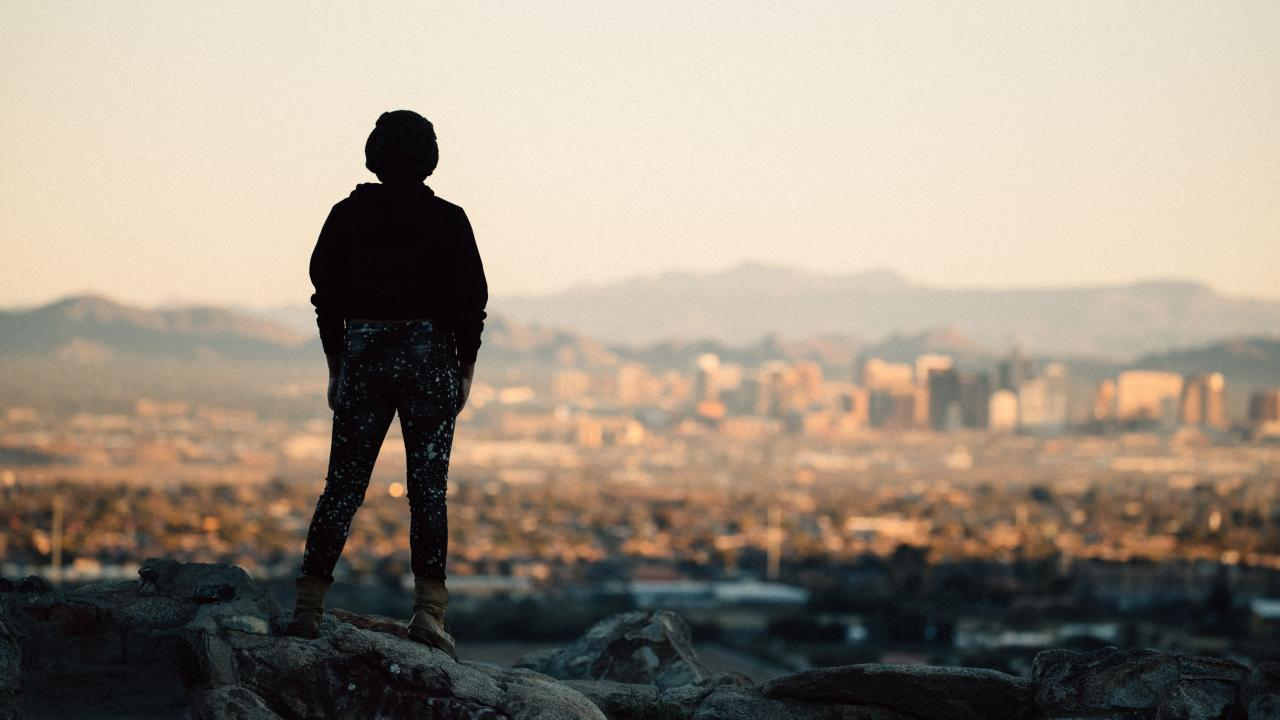 Overlooking Phoenix, Arizona