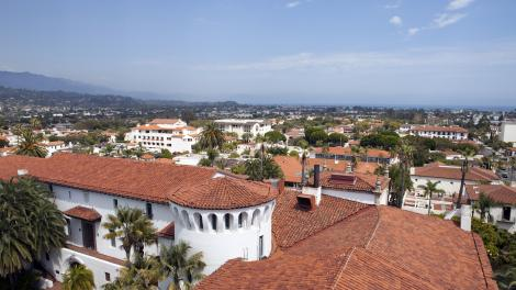Official Santa Barbara Travel Site Reflecting Spanish Heritage A View Of The Courthouse And Tile Roof Skyline
