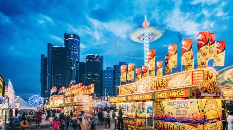 Summer carnival in Detroit, Michigan
