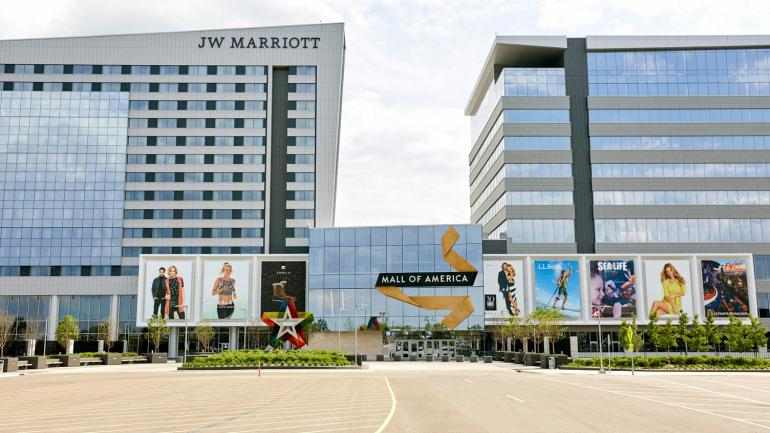 Mall of america minnesotas top shopping and entertainment center a look at the jw marriott hotel from outside the north entrance of mall of america sciox Choice Image