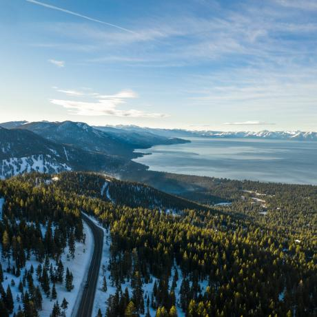 Mountains overlooking Lake Tahoe, Nevada