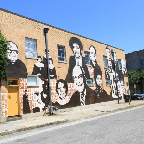 Civil rights mural street art in Memphis, Tennessee