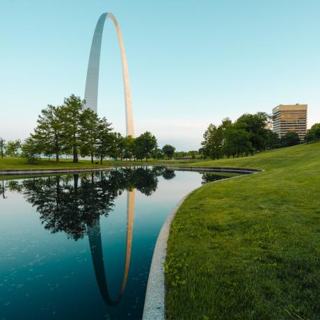 Gateway Arch National Park in St. Louis, Missouri