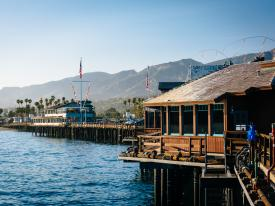 Stearns Wharf in Santa Barbara, California