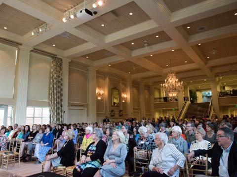 Attending a literary festival event at the Arkansas Governor's Mansion