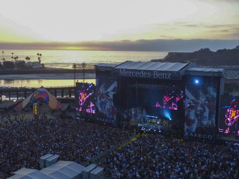 KAABOO festival's oceanfront setting in San Diego