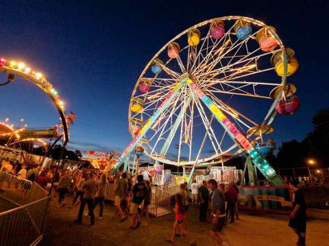 Silverado Days' colorful Ferris wheel