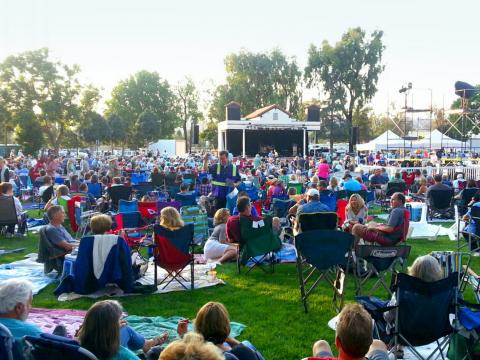 Crowds enjoy live music al fresco at the Camarillo Arts Council Summer Concerts in the Park series
