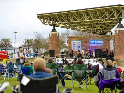 Enjoying live music in Lake Charles during Live at the Lakefront