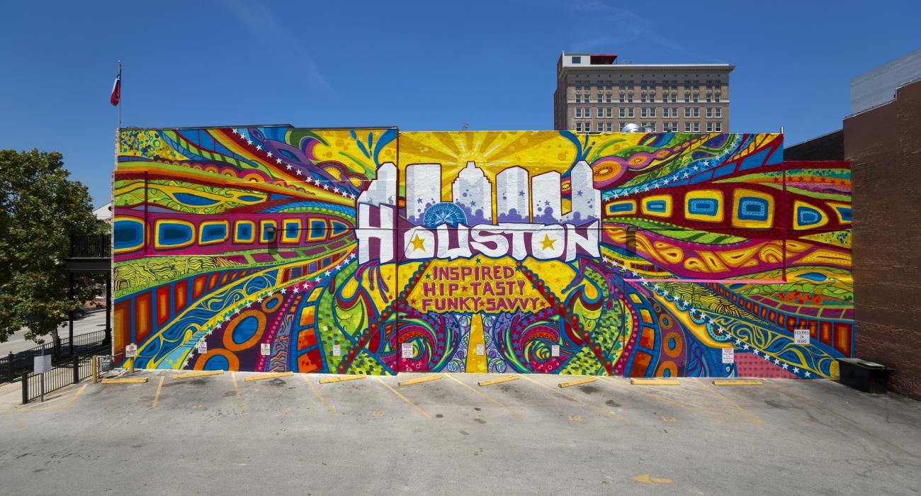 Mural By Graffiti Artist Gonzo In Market Square Park