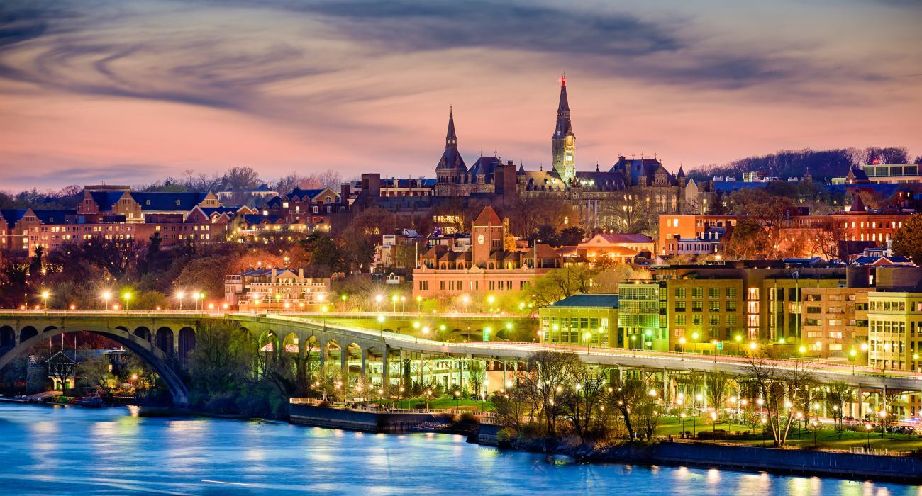 beautiful night view of the capital region usa
