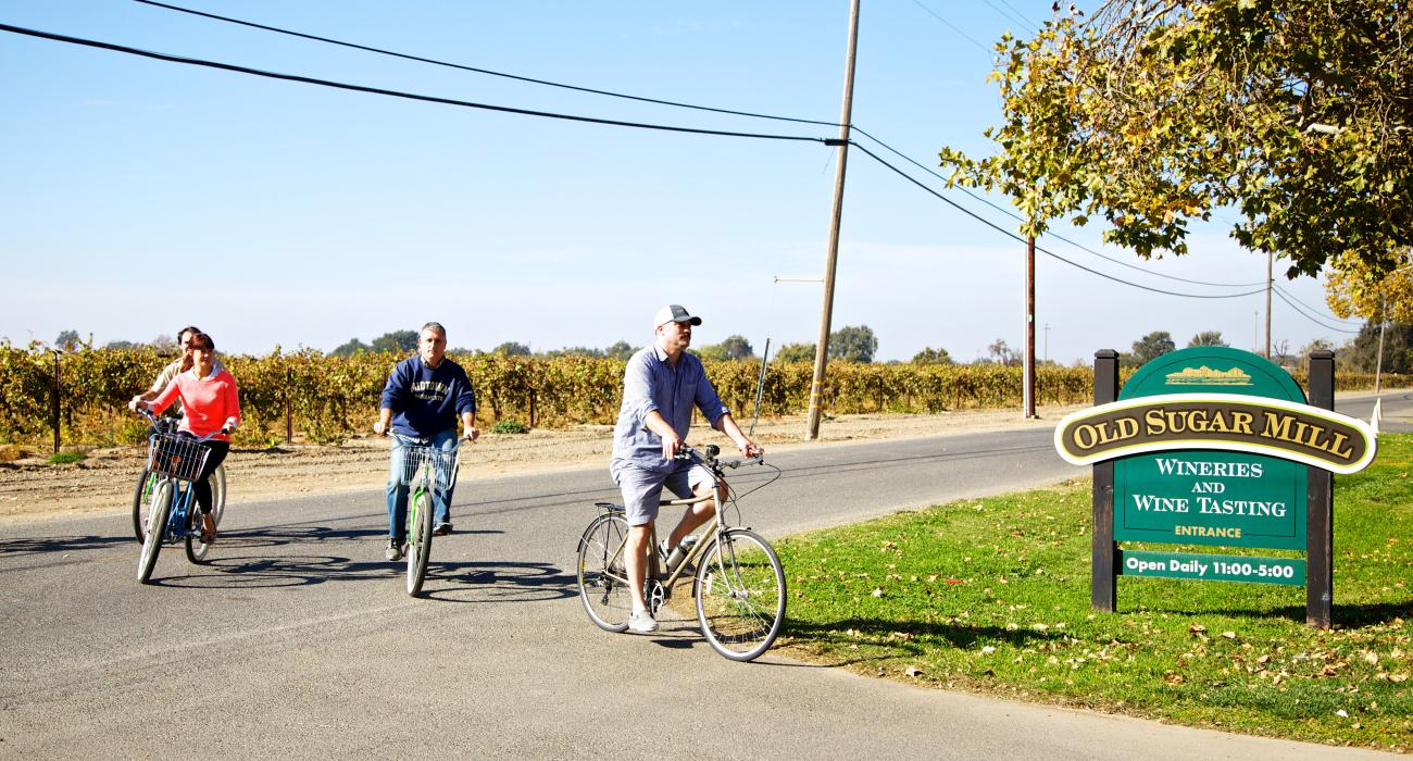 Bicycling To An Old Sugar Mill Wine Tasting In The Sacramento Delta California