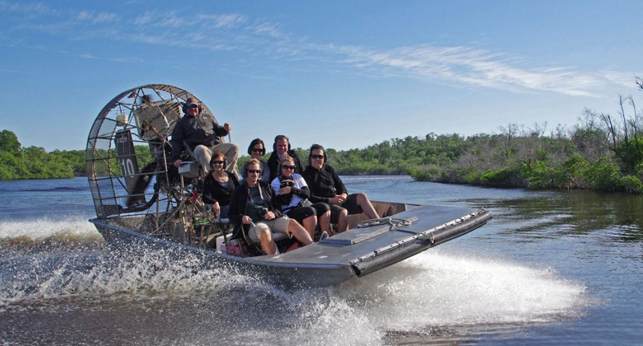 Airboating Around The Everglades