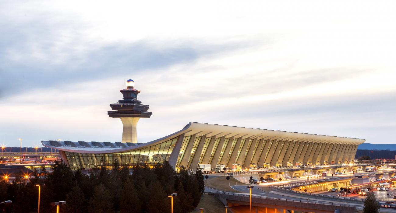 The distinctive shape of Washington Dulles International