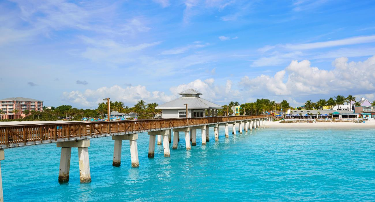 Vibrant Blue Water Surrounding Fort Myers Beach