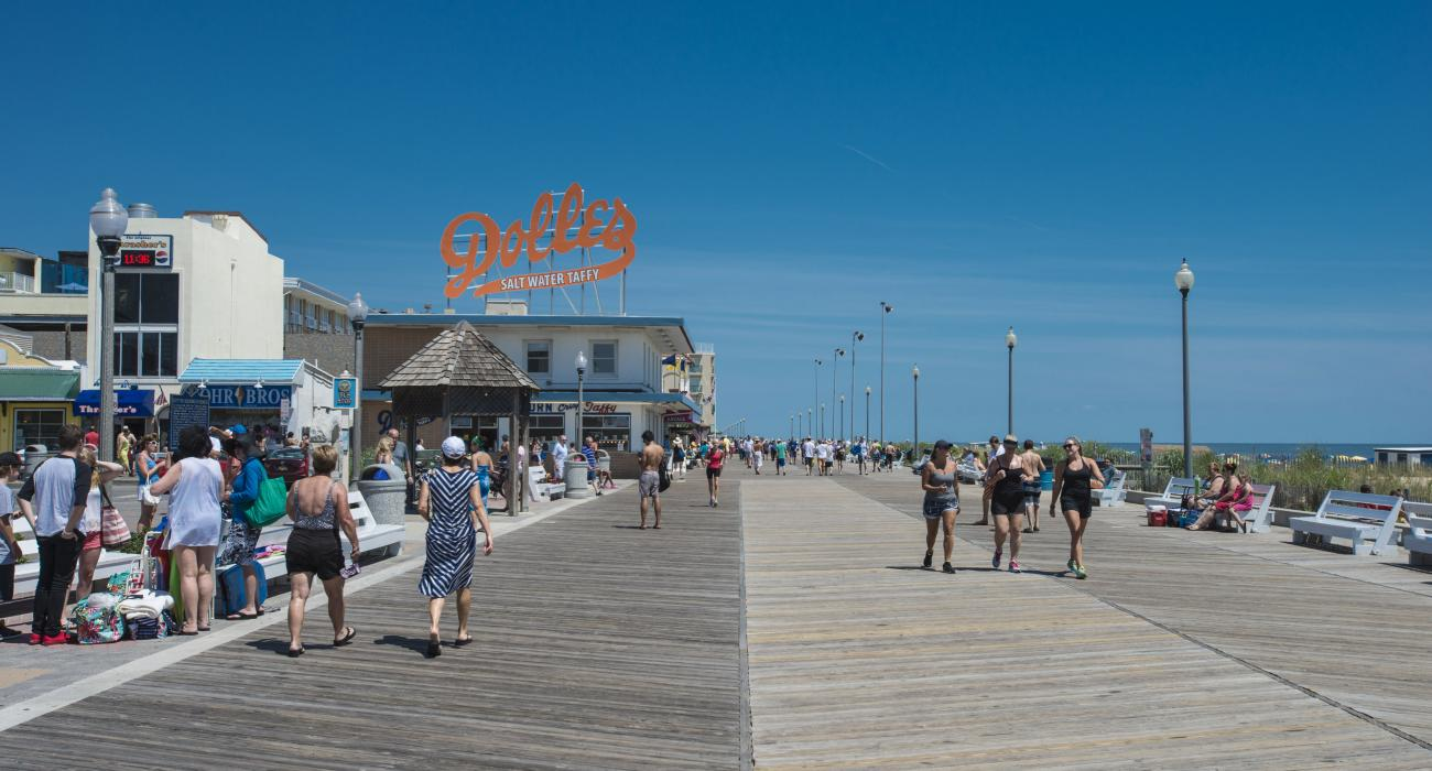 Dining Ping And Exercising Along The Oceanfront Boardwalk