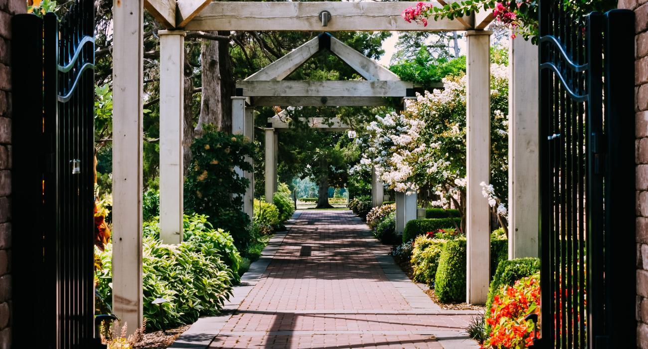 Walkway At The Tulsa Garden Center In Historic Woodward Park