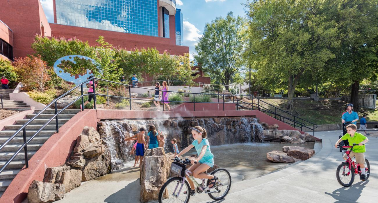 Family leisure little rock arkansas - Biking And Splashing At Riverfront Park