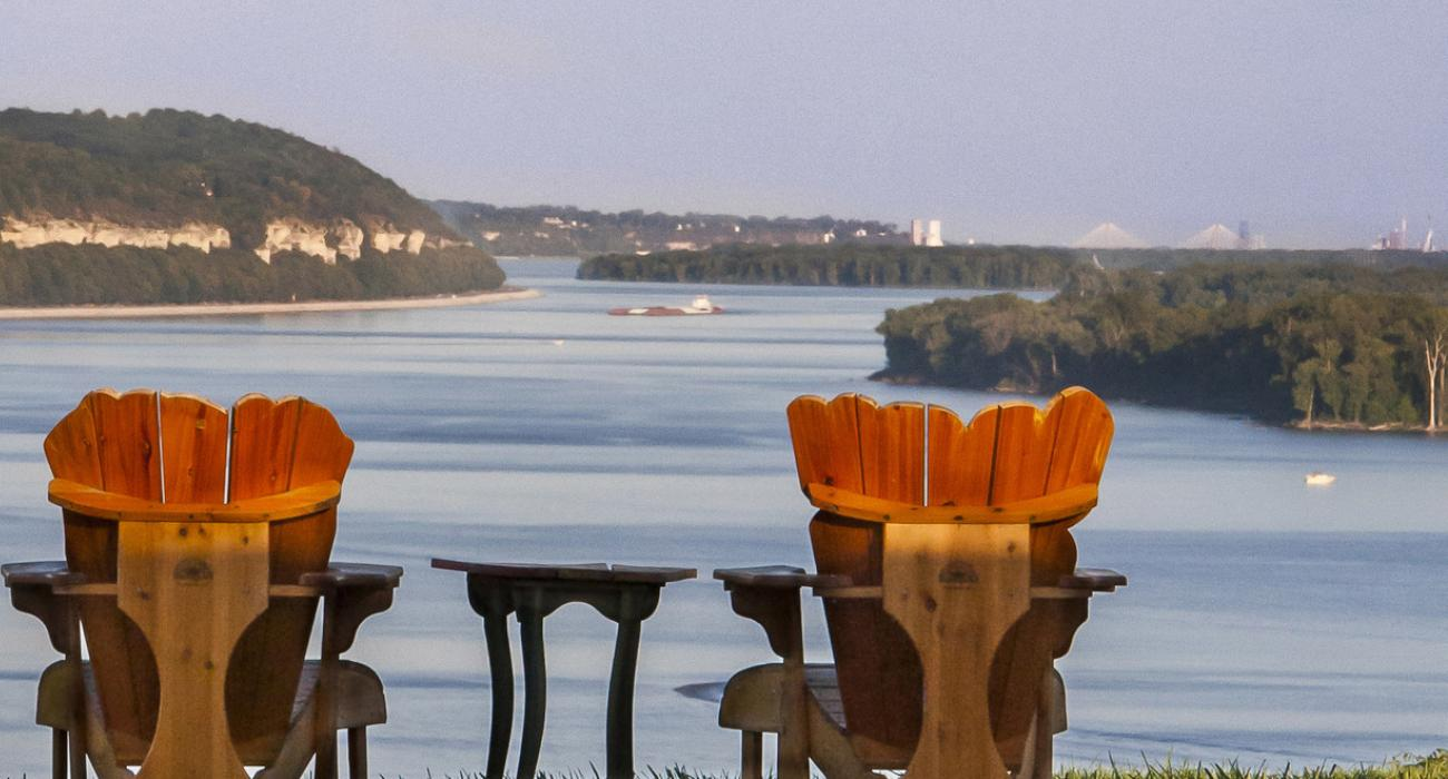 Adirondack Chairs Overlooking The Mississippi River