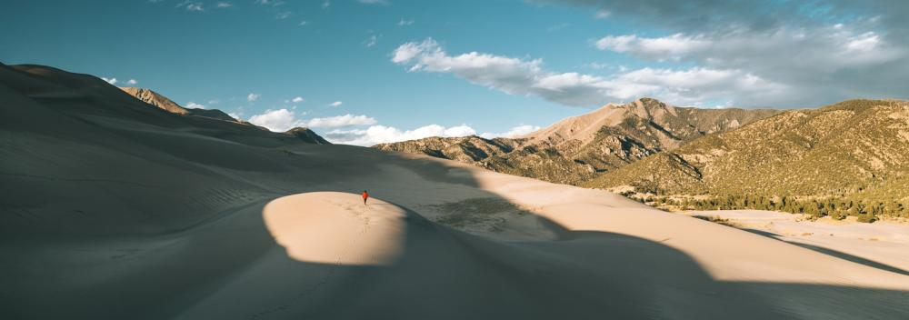 Hiking in Great Sand Dunes National Park and Preserve in Colorado