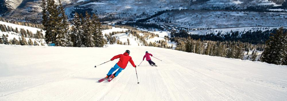 Skiing at Solitude Mountain Resort in Solitude, Utah