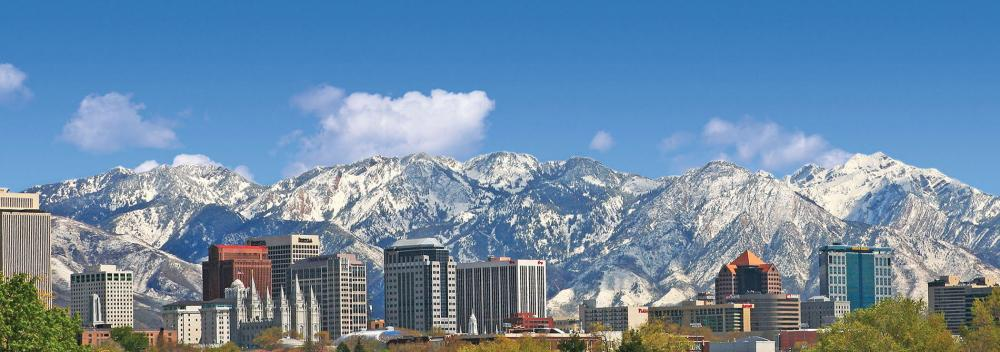 Downtown Salt Lake City, Utah, skyline